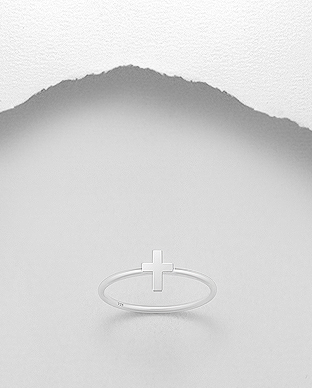 706-27433 - 925 Sterling Silver Cross Ring