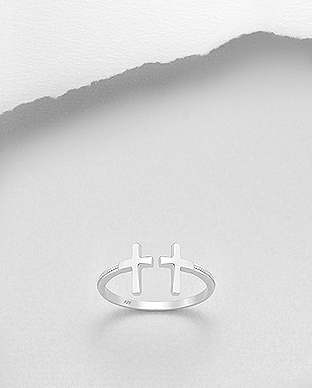 706-27504 - 925 Sterling Silver Cross Ring