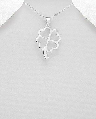1076-245 - 925 Sterling Silver Clover Pendant