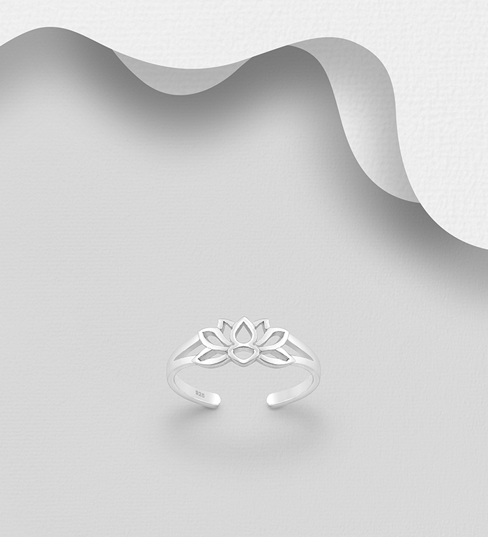792-915 - 925 Sterling Silver Lotus Toe Ring