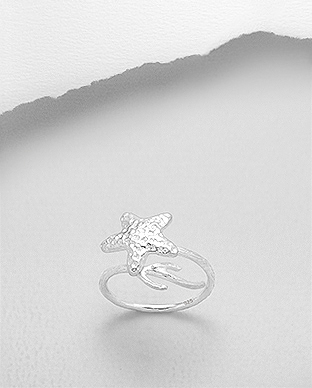 706-27885 - 925 Sterling Silver Starfish Ring