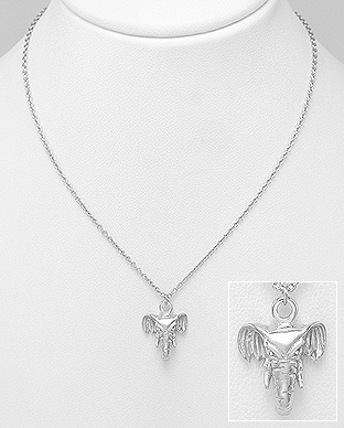 706-27995 - 925 Sterling Silver Elephant Necklace