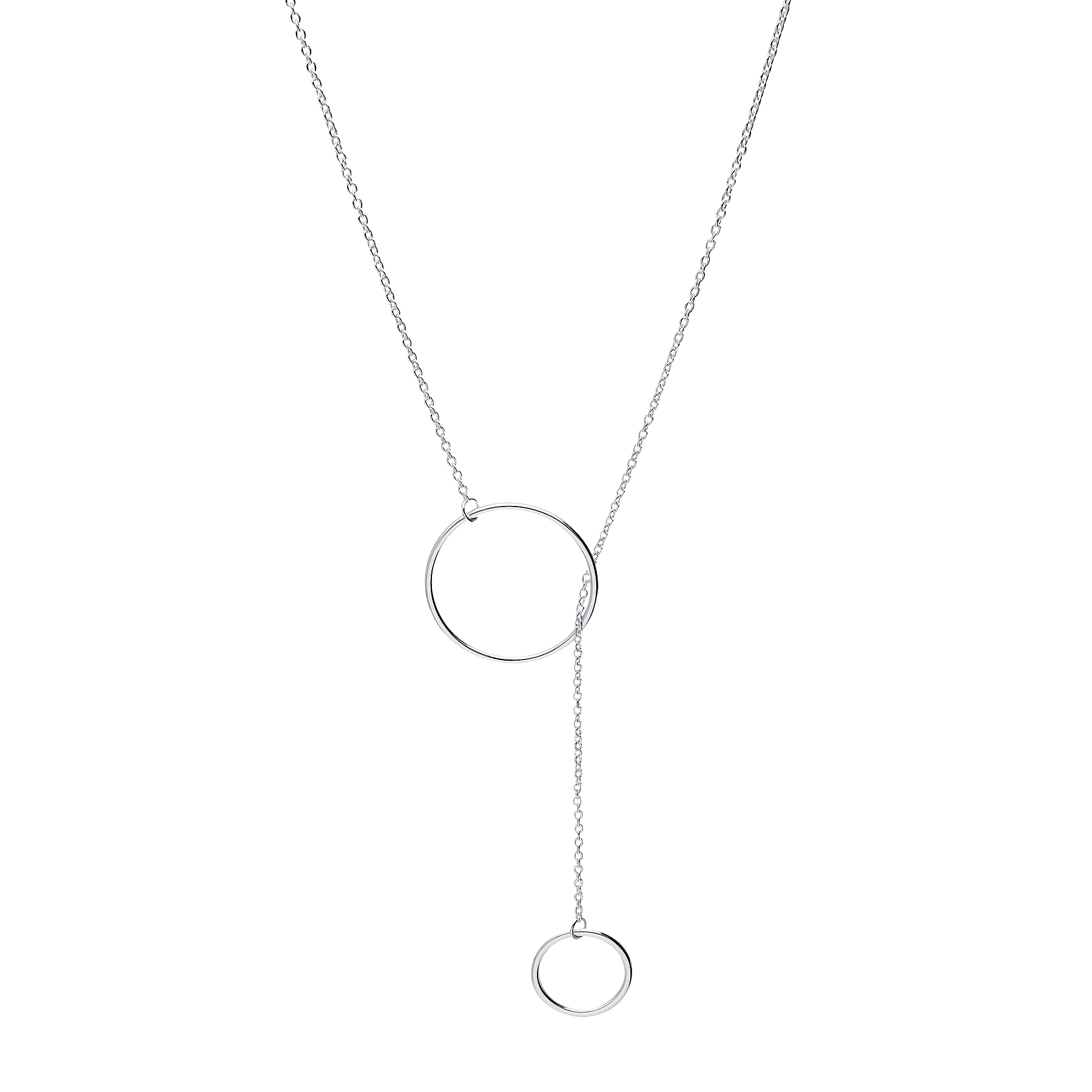 706-28063 - 925 Sterling Silver Circle Necklace