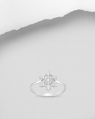 706-28407 - 925 Sterling Silver Snowflake Ring