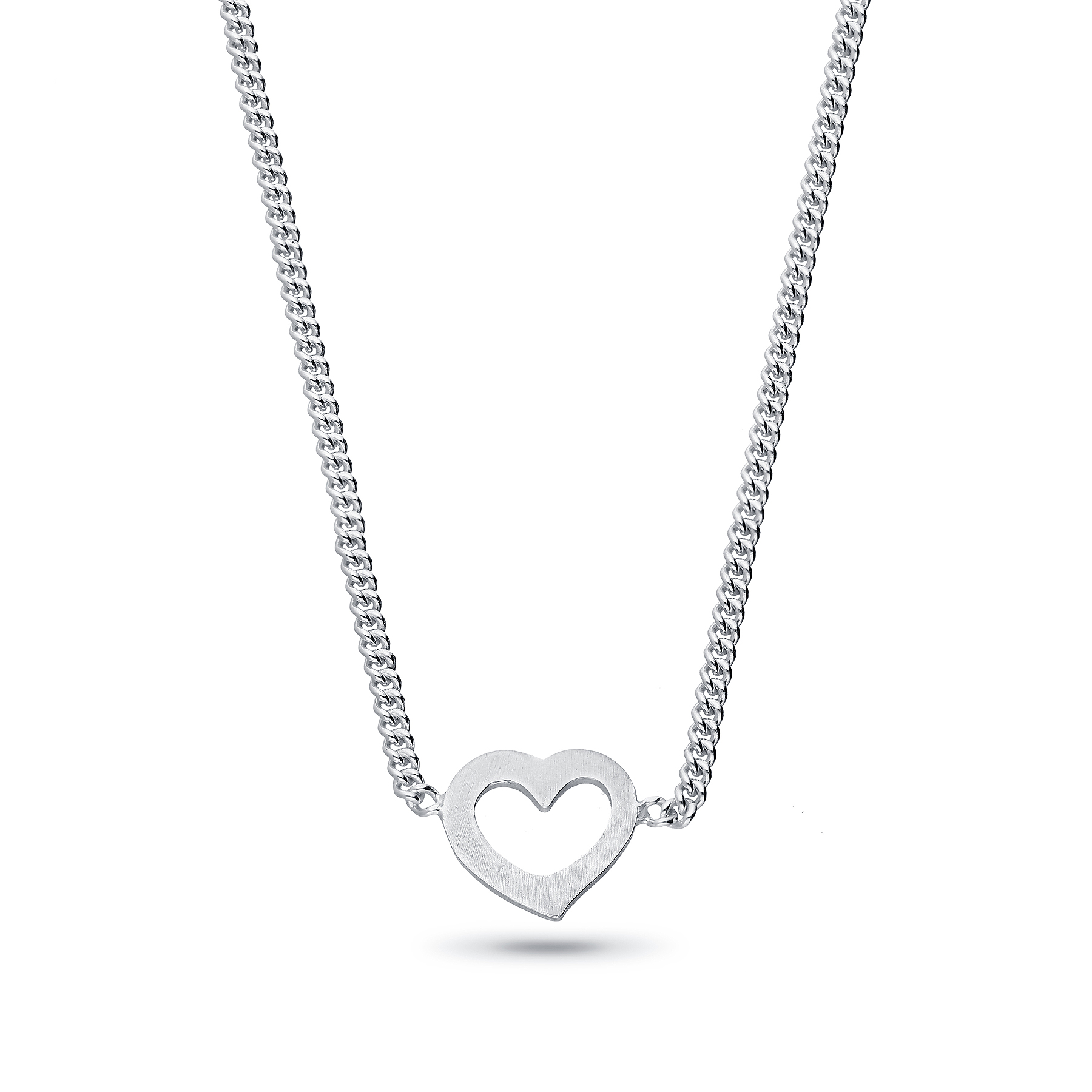 706-28484 - 925 Sterling Silver Choker Featuring Heart