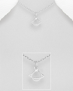 706-28562 - 925 Sterling Silver Saturn Pendant