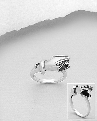 706-29338 - 925 Sterling Silver Oxidized Snake Ring