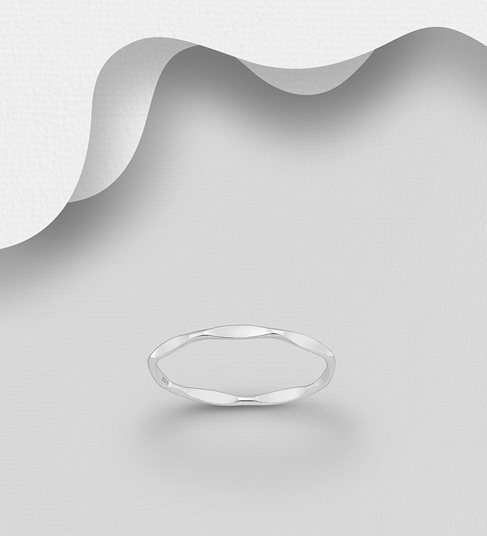 706-29527 - 925 Sterling Silver Ring, 2 mm Wide