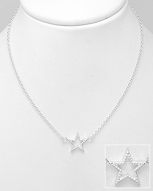 706-29578 - 925 Sterling Silver Star Necklace