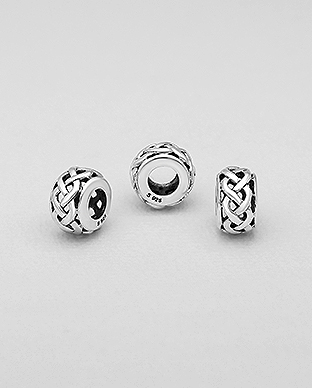 1559-499 - 925 Sterling Silver Celtic Bead