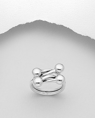 706-29684 - 925 Sterling Silver Ball Ring