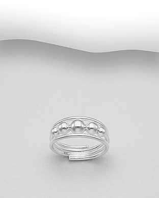 706-30006 - 925 Sterling Silver Ball Ring