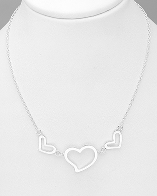 706-30058 - 925 Sterling Silver Necklace Featuring Heart
