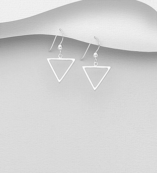 1063-2594 - 925 Sterling Silver Triangle Hook Earrings