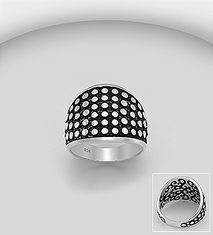 706-30308 - 925 Sterling Silver Oxidized Ring