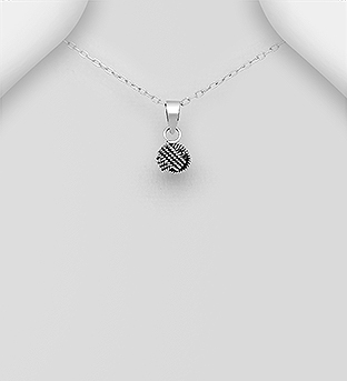 706-30336 - 925 Sterling Silver Oxidized Knot Pendant