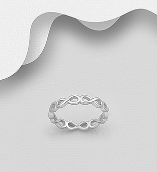 706-30651 - 925 Sterling Silver Infinity Eternity Ring