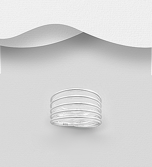 706-30735 - 925 Sterling Silver Layered Ring