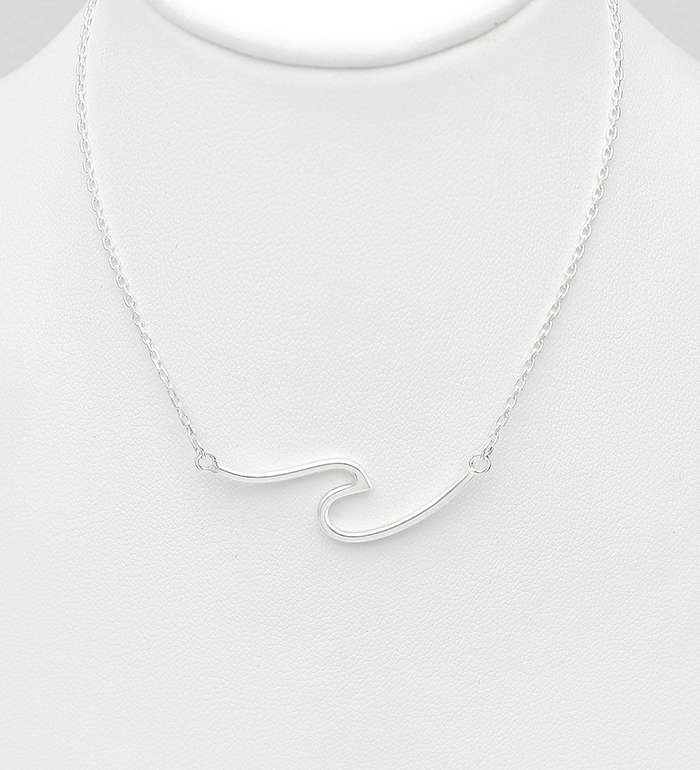 706-30846 - 925 Sterling Silver Wave Necklace