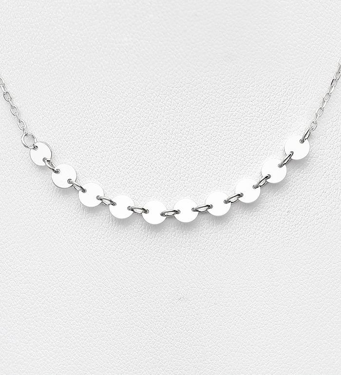 706-30850 - 925 Sterling Silver Circle Necklace