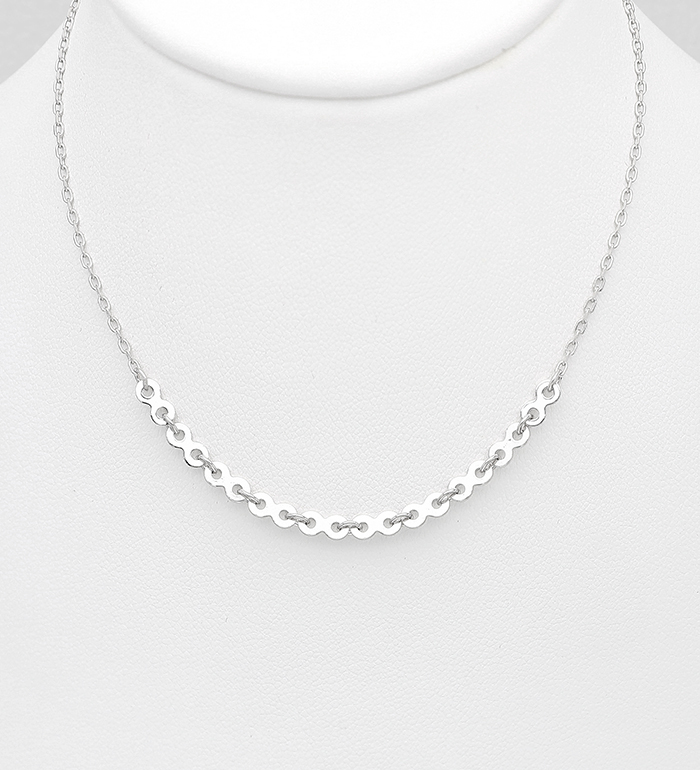 706-30853 - 925 Sterling Silver Infinity Necklace