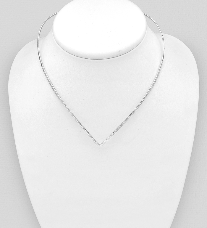 706-30867 - 925 Sterling Silver Diamond Cut Choker