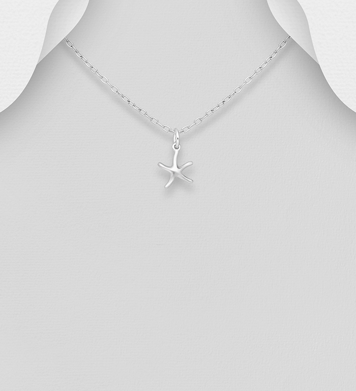 706-30871 - 925 Sterling Silver Starfish Pendant
