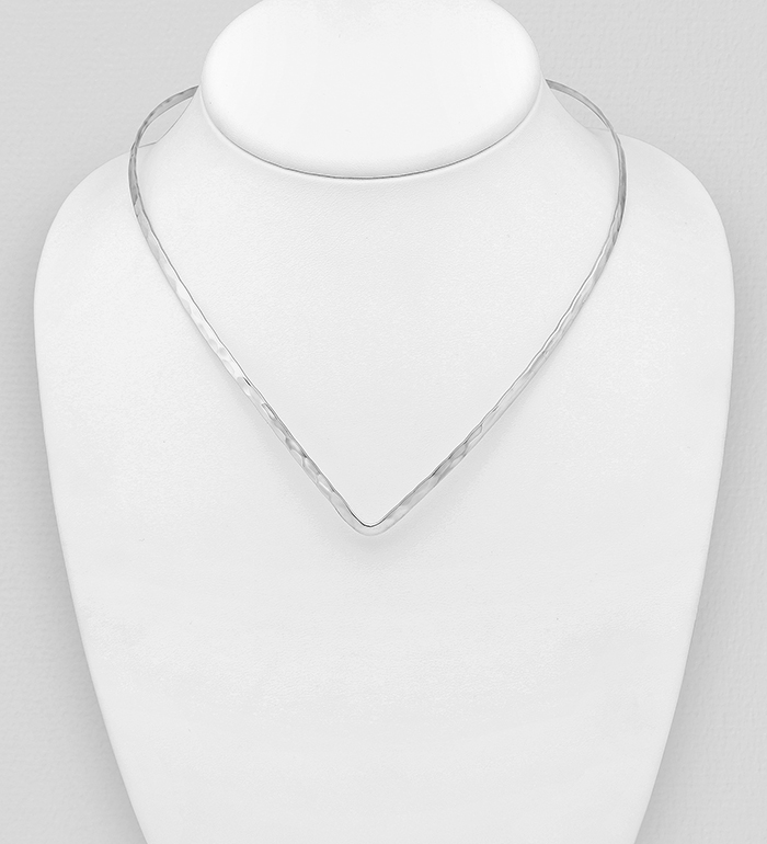 706-30915 - 925 Sterling Silver Hammered Choker