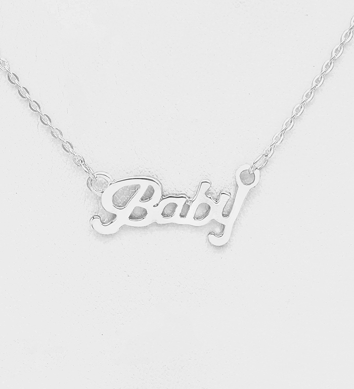 706-30950 - 925 Sterling Silver Baby Necklace