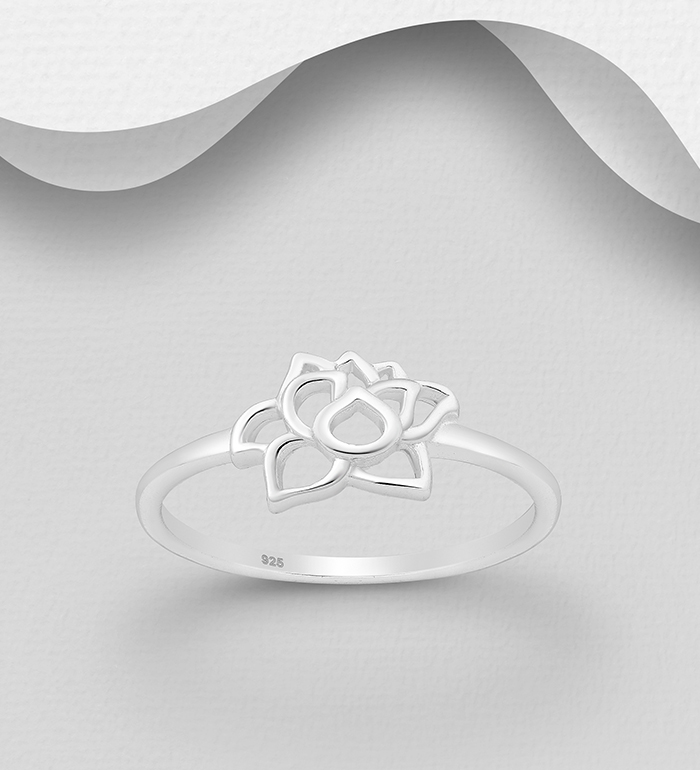 1063-2741 - 925 Sterling Silver Lotus Ring