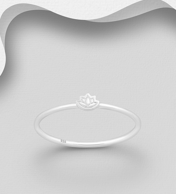 706-31524 - 925 Sterling Silver Lotus Ring