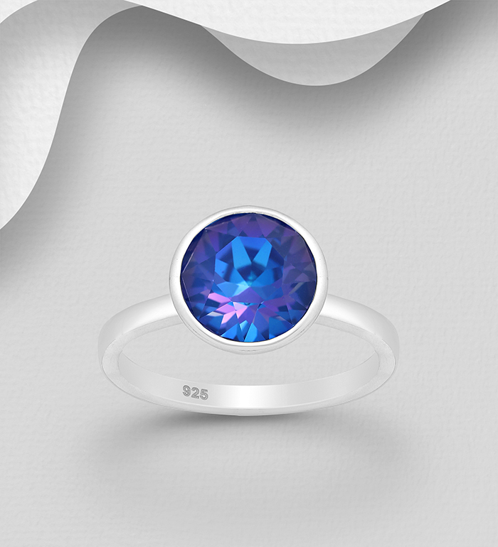 1583-214A - Sparkle by 7K - 925 Sterling Silver Ring Decorated with Authentic Swarovski<sup>®</sup> Crystal