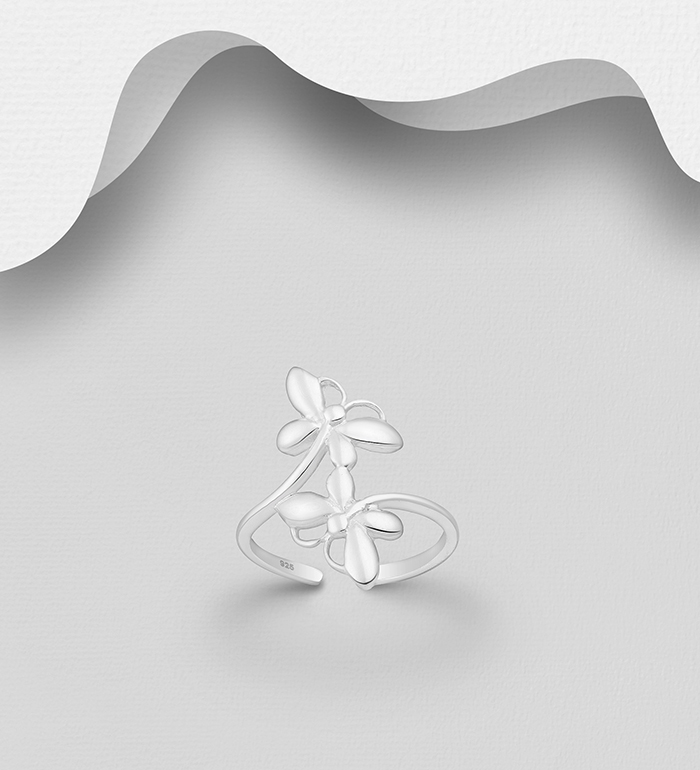 792-1037 - 925 Sterling Silver Dragonfly Toe Ring