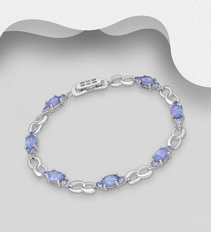 1181-3918 - La Preciada - 925 Sterling Silver Bracelet, Decorated with Tanzanite