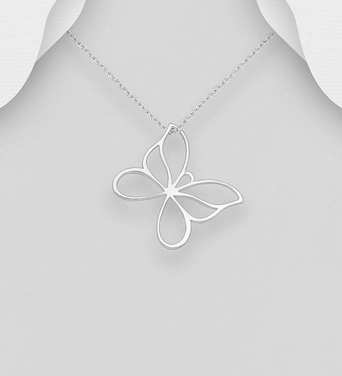 295-514 - 925 Sterling Silver Butterfly Pendant