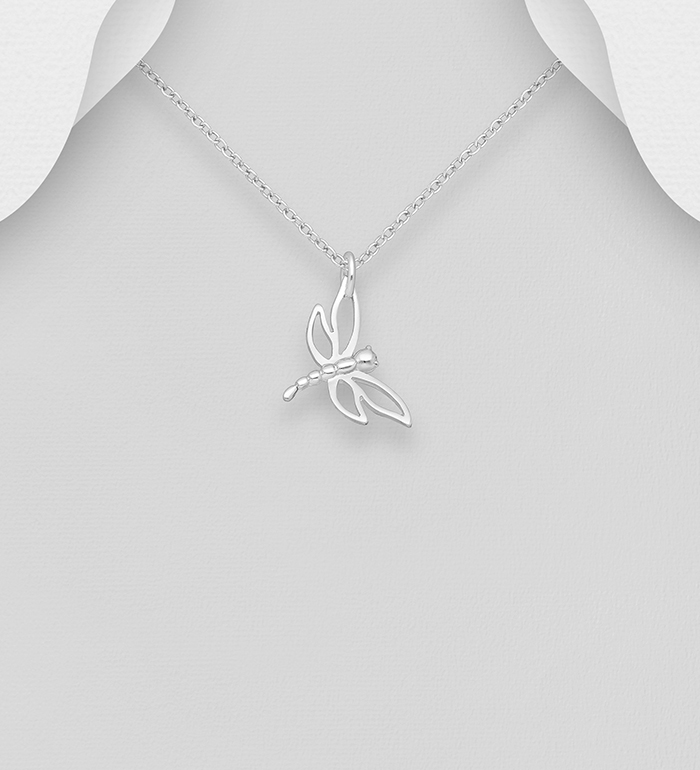 295-519 - 925 Sterling Silver Dragonfly Pendant