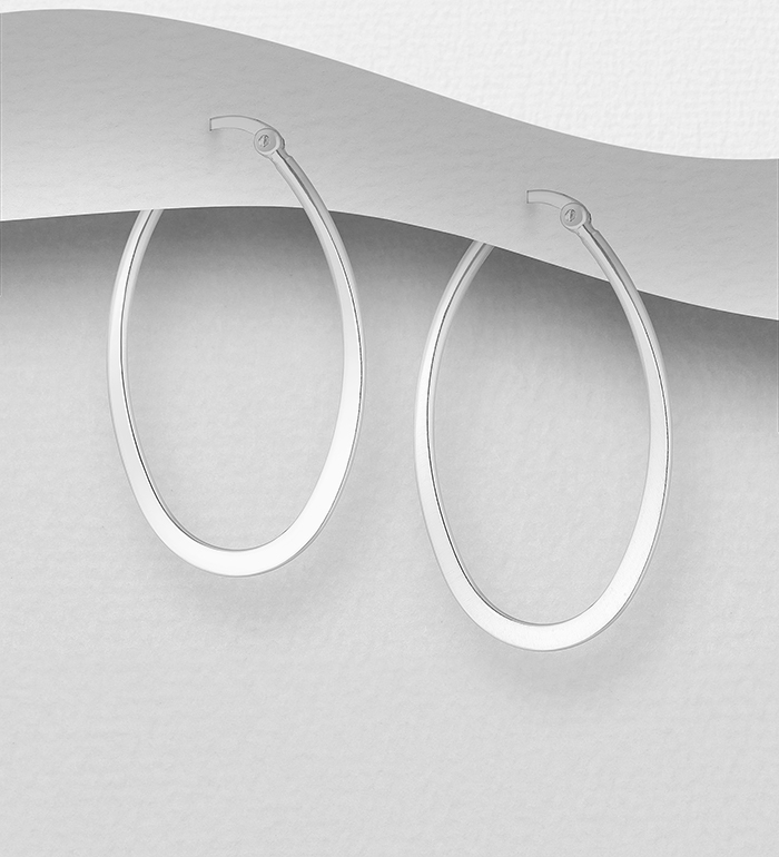 706-2246 - 925 Sterling Silver Hoop Earrings