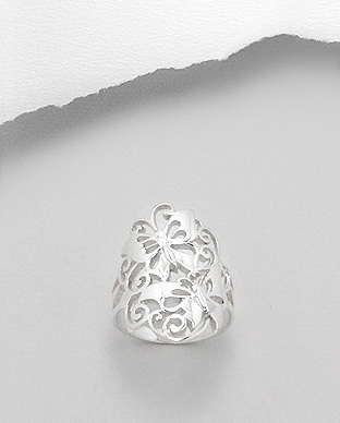706-10423 - 925 Sterling Silver Butterfly Ring