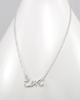 706-11958 - 925 Sterling Silver Love Necklace