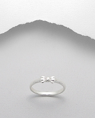 706-12492 - 925 Sterling Silver Bow Ring