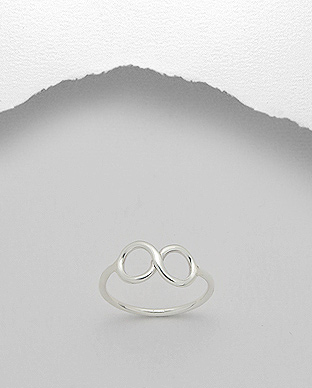 706-13185 - 925 Sterling Silver Infinity Ring