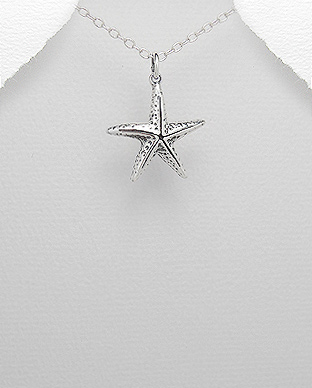 706-13229 - 925 Sterling Silver Starfish Pendant