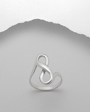 706-13374 - 925 Sterling Silver Infinity Ring
