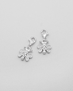 983-916 - 925 Sterling Silver Butterfly Charm