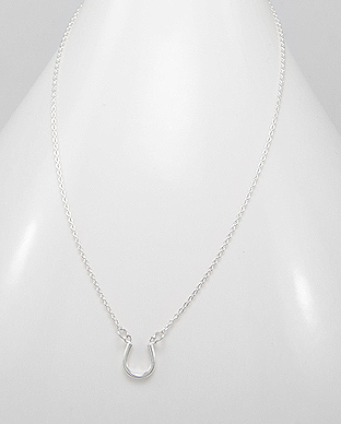 706-13487 - 925 Sterling Silver Horseshoe Necklace