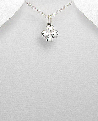 1076-53 - 925 Sterling Silver Clover Pendant