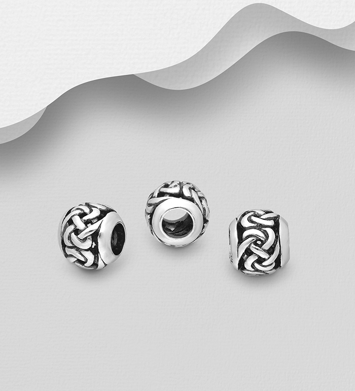 1559-541 - 925 Sterling Silver Oxidized Celtic Bead