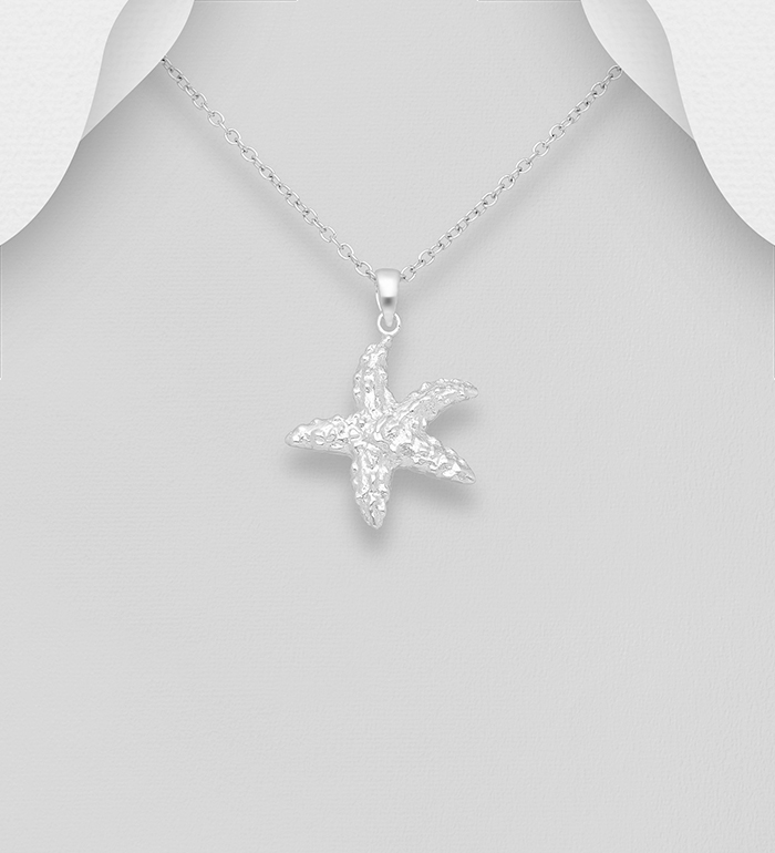 295-536 - 925 Sterling Silver Starfish Pendant