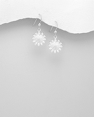 706-20414 - 925 Sterling Silver Sunflower Earrings
