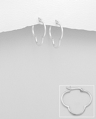 706-24122 - 925 Sterling Silver Hoop Earrings